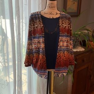 Alfred Dunner blouse w/necklace